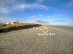 Dune Fence Post at 26th St.