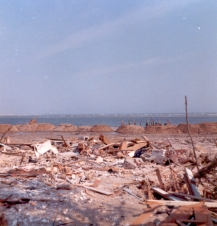 """Somewhere on the inlet. Completely demolished."" Jim Thatcher"