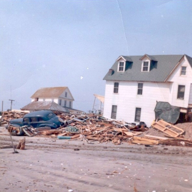 """""""Think this is at the inlet at Third Ave. Looks like the pictures from the Texas tornado."""" - Jim Thatcher"""