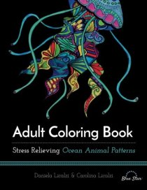 Adult Coloring Book - Stress Relieving Ocean Animal Patterns