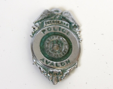 AVALON POLICE PATROLMAN BADGE