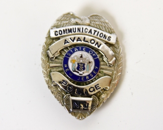 AVALON POLICE COMMUNICATIONS BADGE